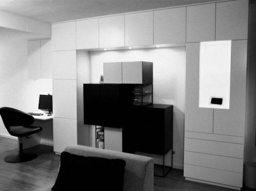 Werkkamer wit zwart